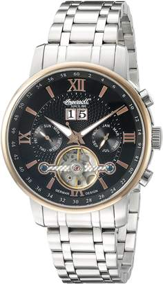 Ingersoll Men's IN6900RBKMB Grand Canyon IV Analog Display Automatic Self Wind Silver Watch