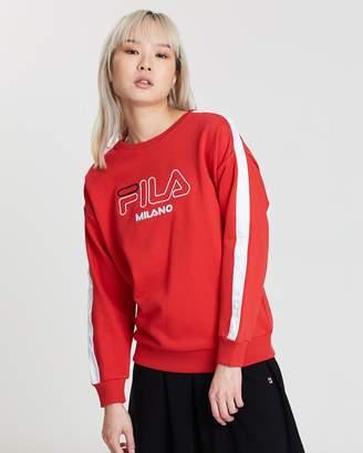 Fila White Line Snap Sweatshirt