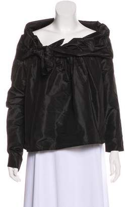 Isa Arfen Silk Off-the-Shoulder Top