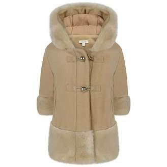 Chloé ChloeBaby Girls Beige Wool & Cashmere Coat