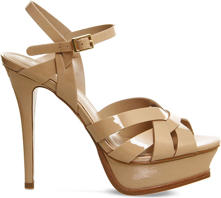 Office Nostalgia patent-leather heeled sandals