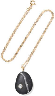 Cvc Stones Kismet 18-karat Gold, Stone And Diamond Necklace