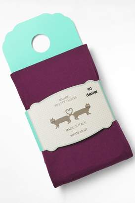 White Stuff Womens Purple Olivia Opaque Tights - Purple