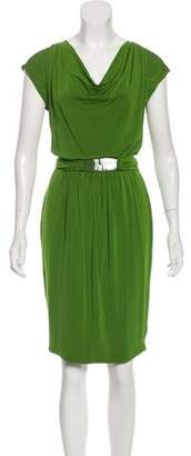 Max Mara Belted Knee-Length Dress