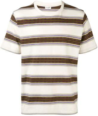 Saint Laurent multi-stripe T-shirt