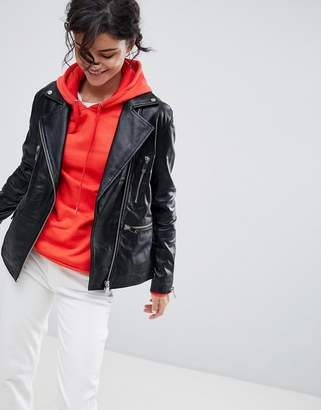 DAY Birger et Mikkelsen 2nd 2NDDAY Longline Leather Biker Jacket