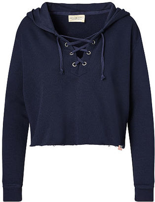 Ralph Lauren Denim & Supply French Terry Lace-Up Hoodie $98.50 thestylecure.com
