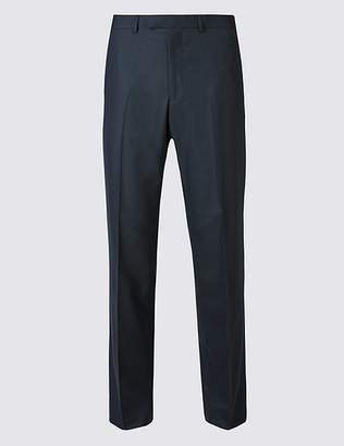 Marks and Spencer Big & Tall Navy Tailored Fit Trousers