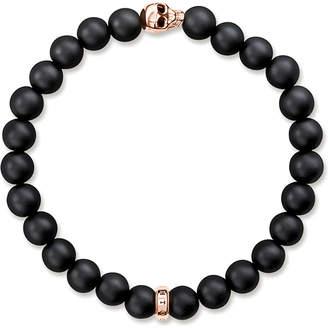 Thomas Sabo Rebel at Heart gold-plated and matte obsidian bracelet