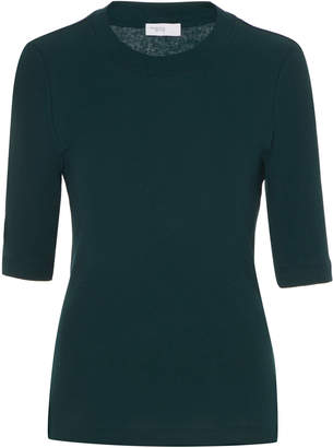 Rosetta Getty Elbow-Length Cotton T-Shirt Size: XS