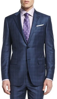 Ermenegildo Zegna Plaid Two-Piece Wool Suit, Blue $2,995 thestylecure.com