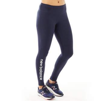 New Balance Womens Graphic Modern Running Tight Leggings Navy