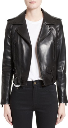 Saint Laurent Leather Moto Jacket