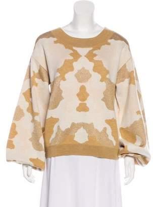 Caroline Constas Crew Neck Wool Sweater