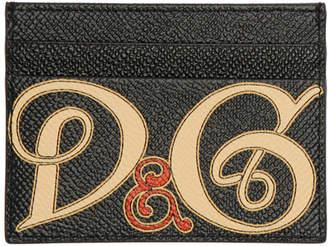 Dolce & Gabbana Black Logo Card Holder