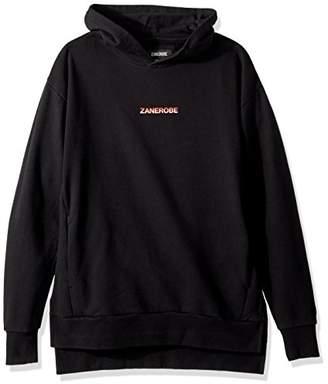 Zanerobe Men's Oversized Drop Shoulder Brand Rugger Hooded Sweatshirt