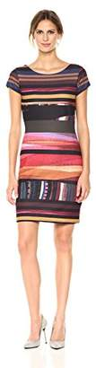 Desigual Women's VEST_SECOND Knee-Length Second Woman Knitted Short Sleeve Dress,XXL