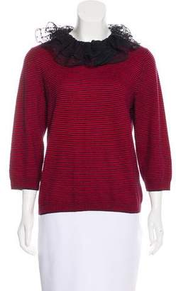 Marc by Marc Jacobs Embellished Cashmere Top