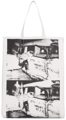 Calvin Klein White Ambulance Disaster Soft Tote