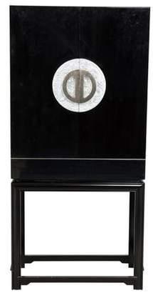 2-Piece Forbidden City Lacquer Bar Cabinet