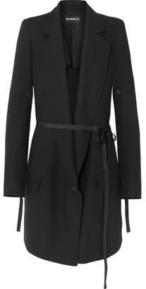 Ann Demeulemeester Belted Wool Blazer - Black