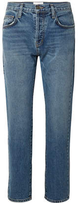 Current/Elliott The Original Straight Cropped Mid-rise Jeans - Mid denim