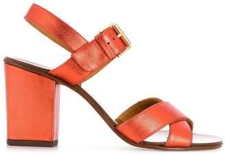 Chie Mihara metallic block heel sandals