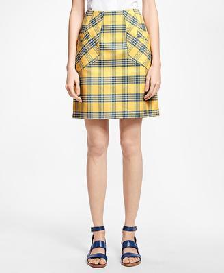 A-Line Cotton Plaid Skirt $298 thestylecure.com