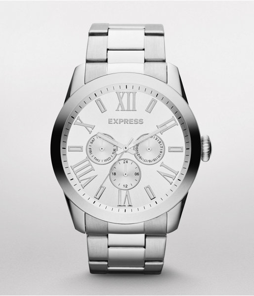 Multi-Function Bracelet Watch - Silver