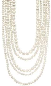 Design Lab Five-Row Bead Strand Necklace