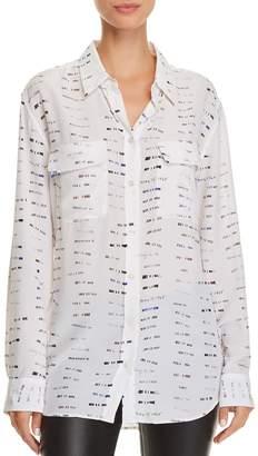 Equipment Signature Printed Silk Shirt