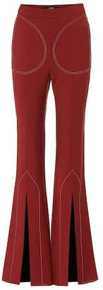 Ellery Aalto flared wool-blend pants