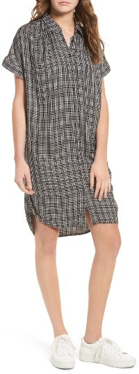Women's Madewell Central Plaid Shirtdress