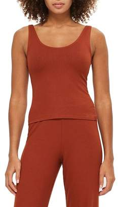 Topshop Ribbed Pajama Camisole