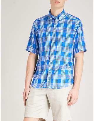 Eton Checked slim-fit linen shirt