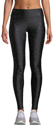 Terez Leopard Foil Printed Tall Band Performance Leggings