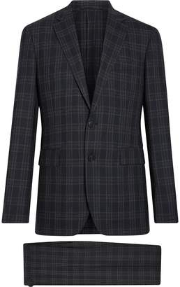 Burberry Soho Fit Check Wool Suit