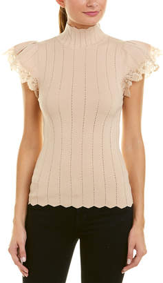 Rebecca Taylor Pointelle Lace Pullover