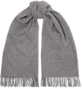 Acne Studios Canada Fringed Wool Scarf - Gray
