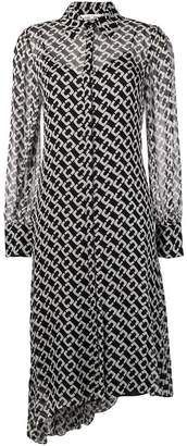 Diane von Furstenberg chain-link asymmetrical dress
