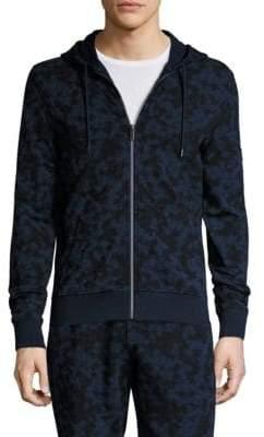 Michael Kors Subtle Camouflage Print Zipper Hoodie
