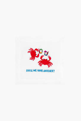 Morgan August Shell We Have Another Cocktail Napkins (Set Of 4)