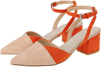f9badf54480 Monsoon Callie Colour Block Two Part Point Heels