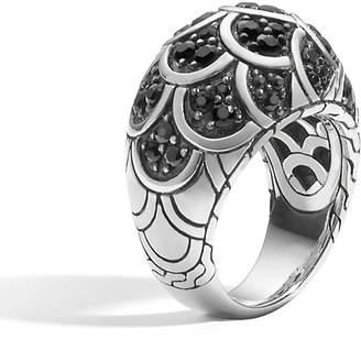 John Hardy Legends Naga Black Sapphire Ring, Size 6