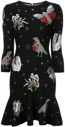 Alexander McQueen printed peplum dress