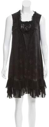 Anna Sui Sleeveless Silk Dress