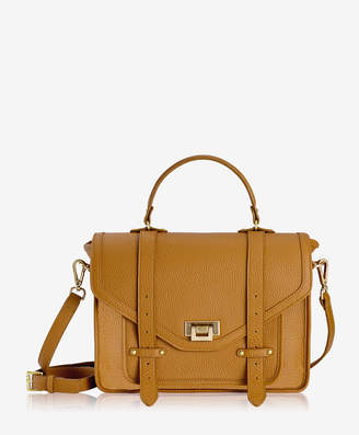 GiGi New York Hayden Satchel, Tan Pebble Grain