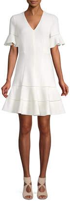 Rebecca Taylor Flounce A-Line Dress