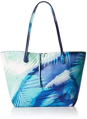 Desigual Bols_blue Palms Capri Women's Shoulder Bag 28x13x30 cm (B x H x T)