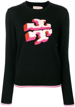 Tory Burch knitted logo jumper